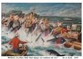 La Mattanza (il pittore Italia Paolo dipinge la mattanza dal vivo)
