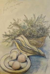 Funghi, mais e origano