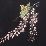 Glicine e farfalla