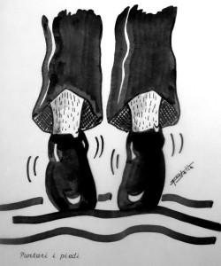 puntare i piedi