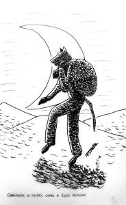 Caminari a notti comu e lupi minari